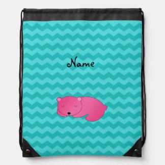 Galones rosados conocidos personalizados de la mochila