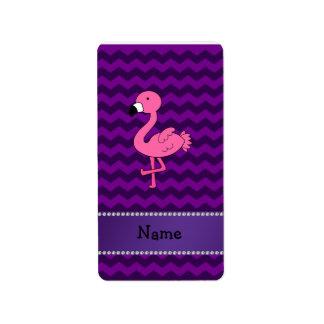 Galones rosados conocidos personalizados de la púr etiquetas de dirección