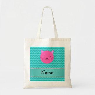 Galones rosados conocidos personalizados de la tur bolsa lienzo