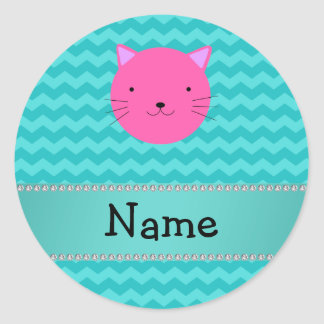 Galones rosados conocidos personalizados de la tur etiqueta redonda