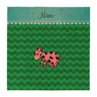 Galones rosados conocidos personalizados del verde posavasos