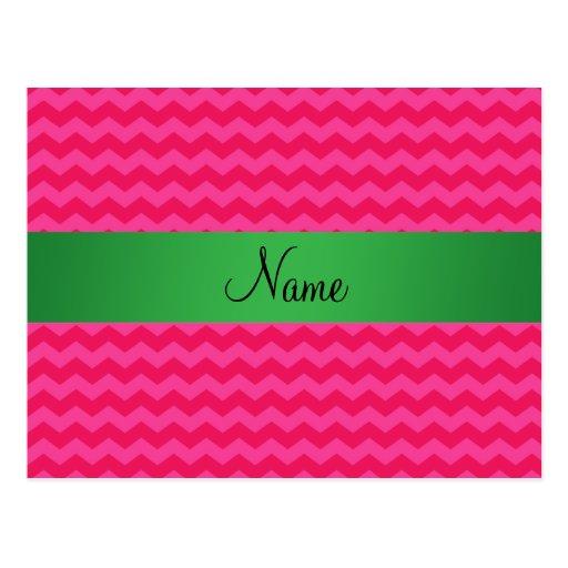 Galones rosados conocidos personalizados postal