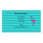 Galones rosados de la turquesa del flamenco plantillas de tarjetas de visita