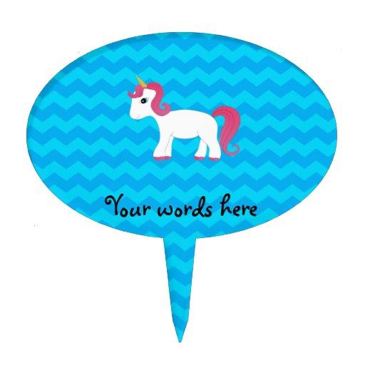Galones rosados del azul del unicornio del pelo figuras para tartas