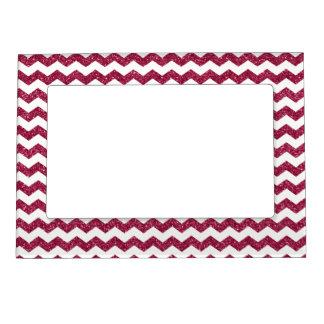 Galones rosados del brillo marcos magneticos de fotos