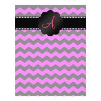 Galones rosados del monograma y negros de neón tarjeton