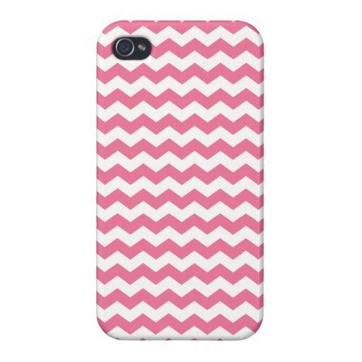 Galones rosados y blancos iPhone 4 funda
