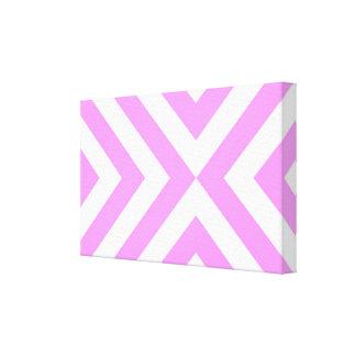 Galones rosados y blancos lona envuelta para galerías