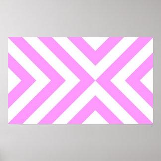 Galones rosados y blancos poster
