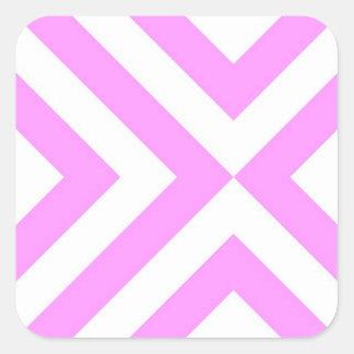 Galones rosados y blancos pegatina cuadrada