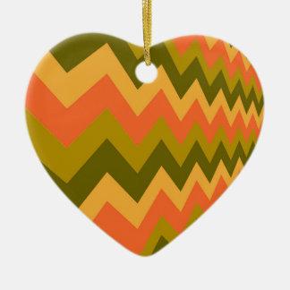 Galones sabios de la cerámica adorno navideño de cerámica en forma de corazón