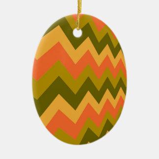 Galones sabios de la cerámica adorno navideño ovalado de cerámica