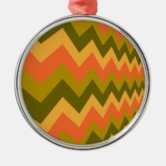 Galones sabios de la cerámica adorno navideño redondo de metal