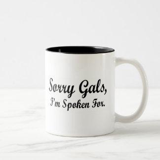 Galones tristes hablados para la taza