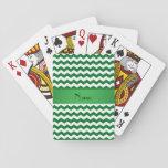 Galones verdes conocidos personalizados cartas de póquer