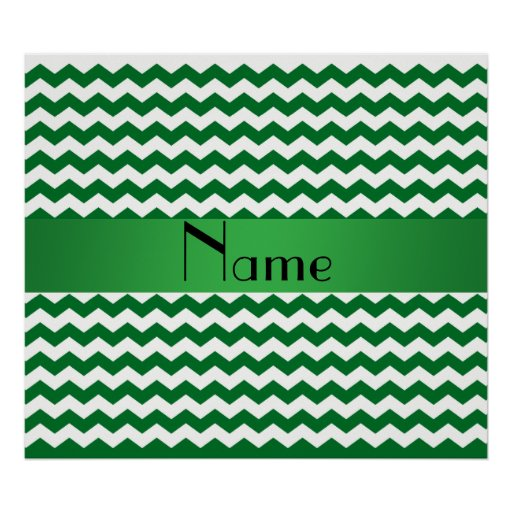 Galones verdes conocidos personalizados impresiones