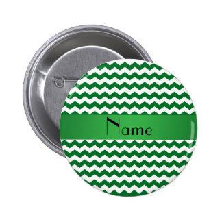 Galones verdes conocidos personalizados pin redondo de 2 pulgadas