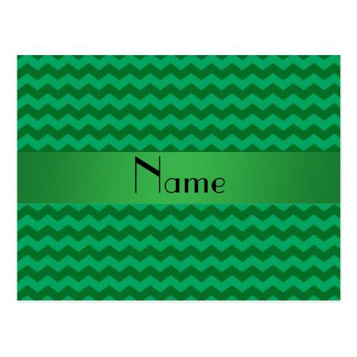 Galones verdes conocidos personalizados tarjetas postales