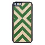 Galones verdes y blancos funda de iPhone 6 bumper arce