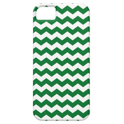 Galones verdes y blancos iPhone 5 Case-Mate protector