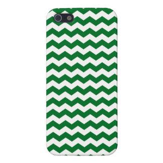 Galones verdes y blancos iPhone 5 carcasa