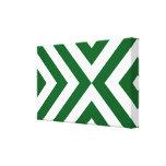 Galones verdes y blancos lienzo envuelto para galerias
