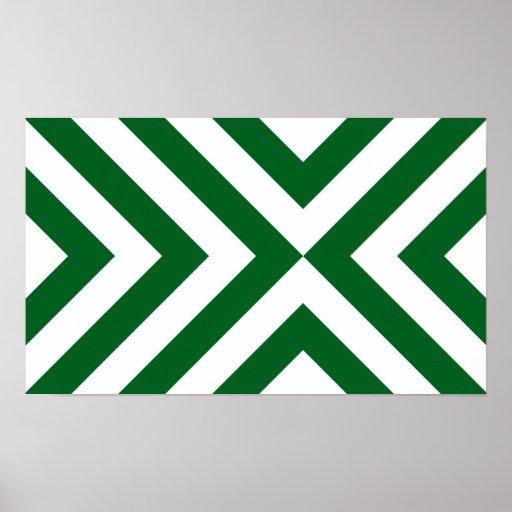 Galones verdes y blancos póster