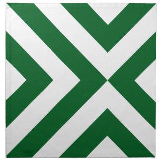 Galones verdes y blancos servilletas de papel