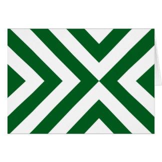 Galones verdes y blancos tarjeta de felicitación