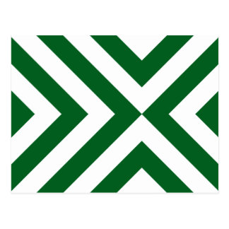 Galones verdes y blancos postal
