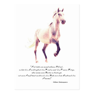 Galopando Andalusia, Pferdeportrait Tarjeta Postal