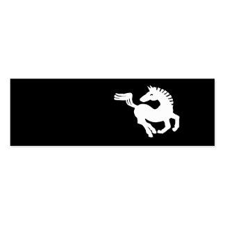 Galope del caballo blanco plantillas de tarjetas de visita