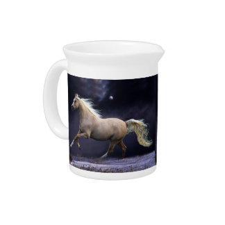 galope del caballo jarra de beber