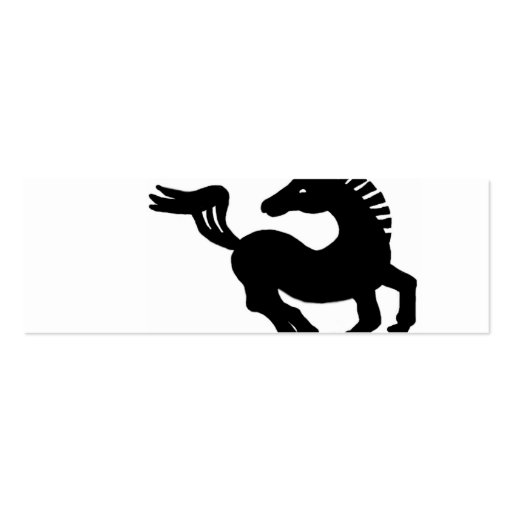 Galope negro del caballo plantilla de tarjeta de visita