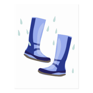 Galoshes Shoes Postcard