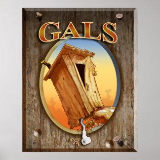 Gal's Restroom Print