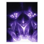 Galss púrpuras membrete a diseño