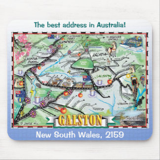 Galston Map Mouse Pads