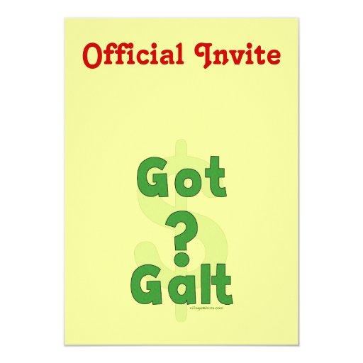 Galt conseguido invitación 12,7 x 17,8 cm
