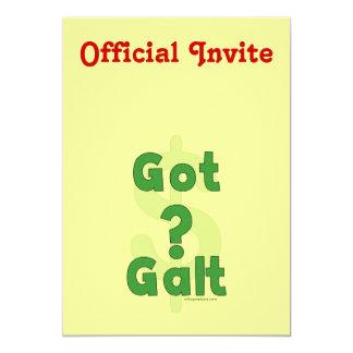 """Galt conseguido invitación 5"""" x 7"""""""