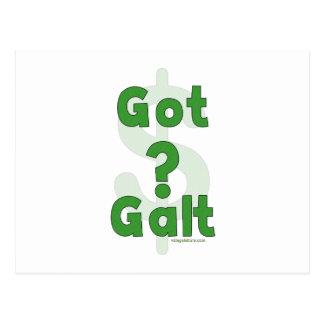 Galt conseguido tarjeta postal