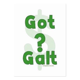 Galt conseguido tarjetas de visita grandes