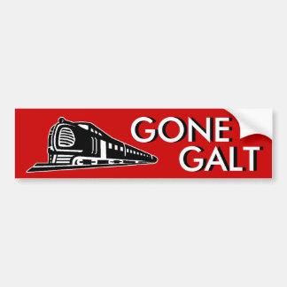 Galt ido etiqueta de parachoque