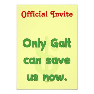 """Galt nos ahorra invitación 5"""" x 7"""""""