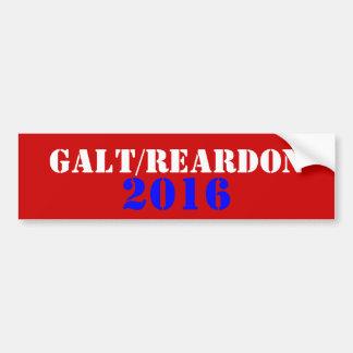 Galt Reardon 2016 Pegatina De Parachoque