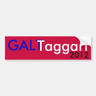 Galt Taggart 2012 Car Bumper Sticker