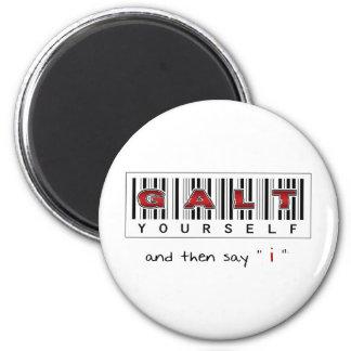 GALT YOURSELF logo 2 Inch Round Magnet