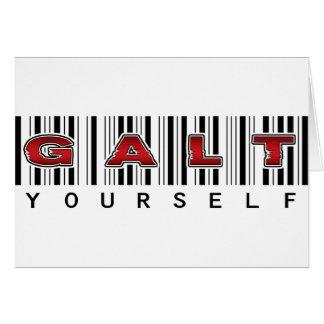 GALT YOURSELF logo Greeting Card