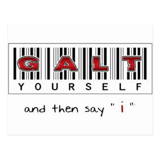 GALT YOURSELF logo Post Card