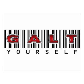 GALT YOURSELF logo Postcard